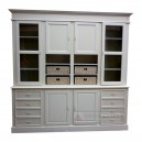 Painted furniture Bookcase of french livingroom Jepara Indonesia.