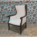 Classic furniture wing chair of Mahogany livingroom classic collection.