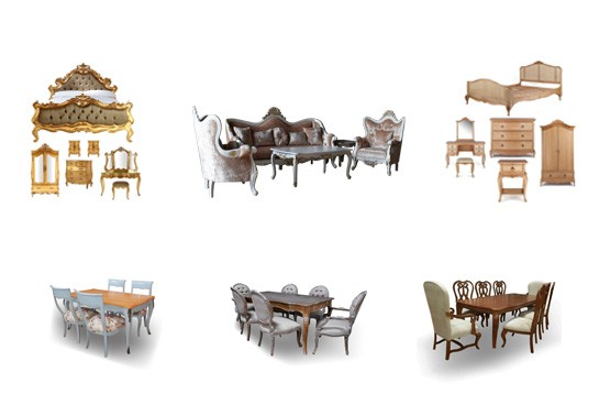Classic furniture indoor mahogany Painted French furniture Provincial & Teak Furniture by Dwira Jepara-Indonesia